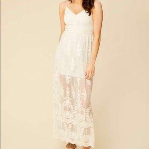 Altar'd State Apolonia Maxi Dress Antique-White